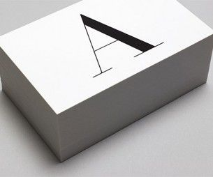 White Minimalist Business Card