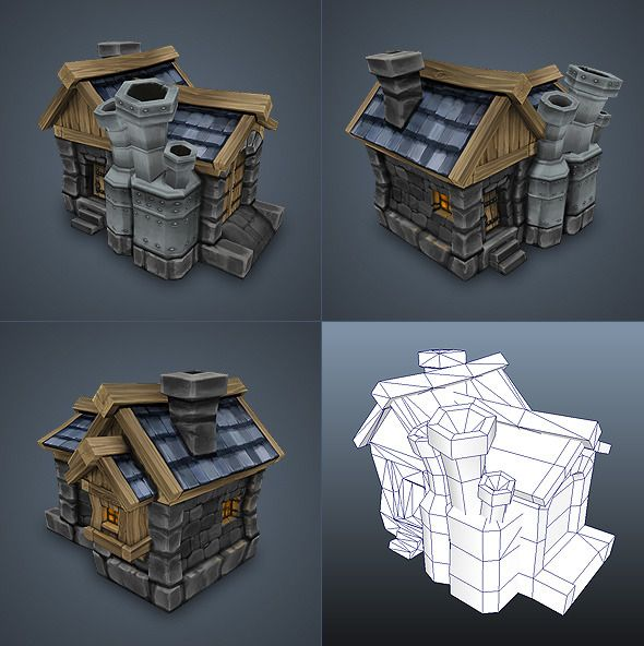 This Low Poly House Is One Of The Nicest Models I Have Come Across Again