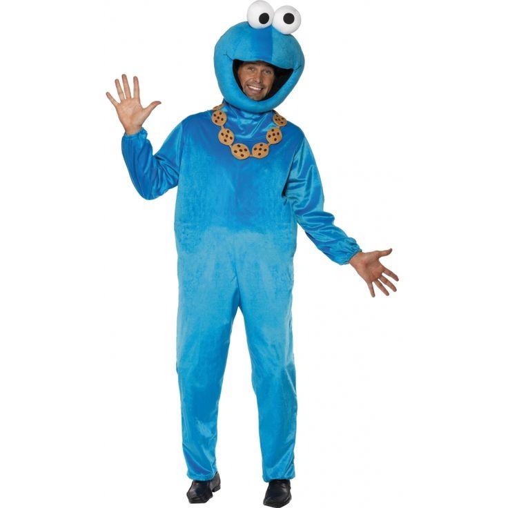 Sesamstraat koekiemonster kostuum  Koekiemonster kostuum. Blauw Koekiemonster kostuum bestaande uit een jumpsuit en pluche hoofd. Ga verkleed als de karakters uit Sesamstraat. Maat: one size ongeveer maat M.  EUR 79.95  Meer informatie  #sinterklaas #zwartepiet