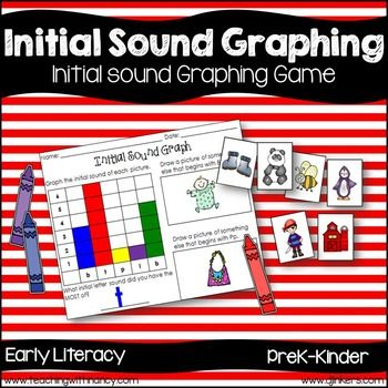***  FREE DOWNLOAD   *** Initial Sound Graphing Game (phonological awareness) This will work as an independent station for kindergarten and small group instruction with prek.