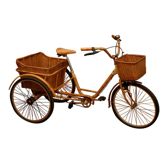 I've always wanted one of these. Click on the link to see more cargo bicycles. Three wheelers are back.