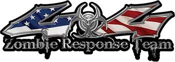 Twisted Series Zombie Response Team 4x4 Decal Kit with American Flag