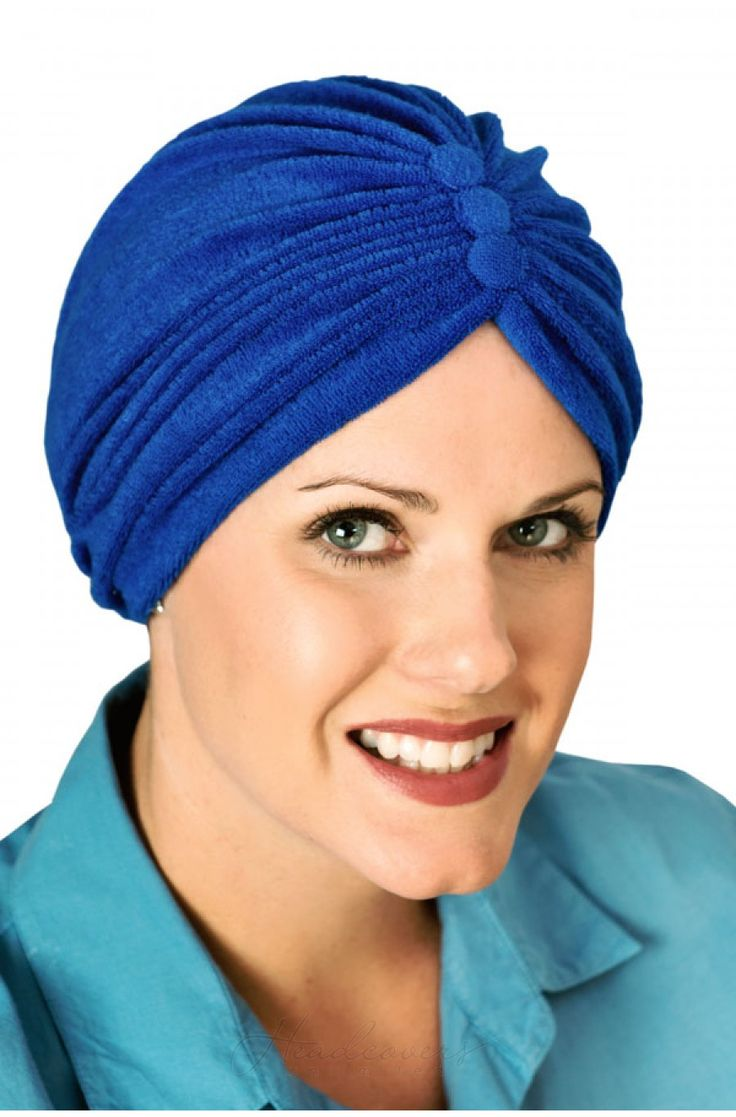 Two Way Reversible Button Terry Turbans Cancer And