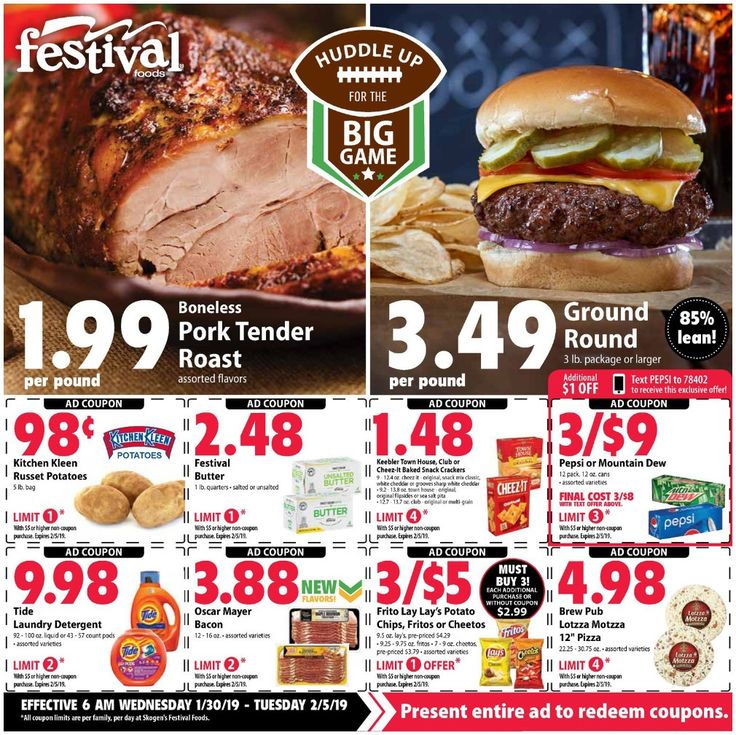 Festival Foods Weekly Ad January 30 February 5, 2019 in