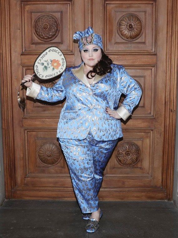 Beth Ditto Looks Stunning In A Custom Gucci Suit