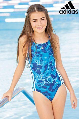 Kaufen Sie adidas gemusterter Badeanzug, blau (7-14 Jahre) heute online bei Next: Deutschland