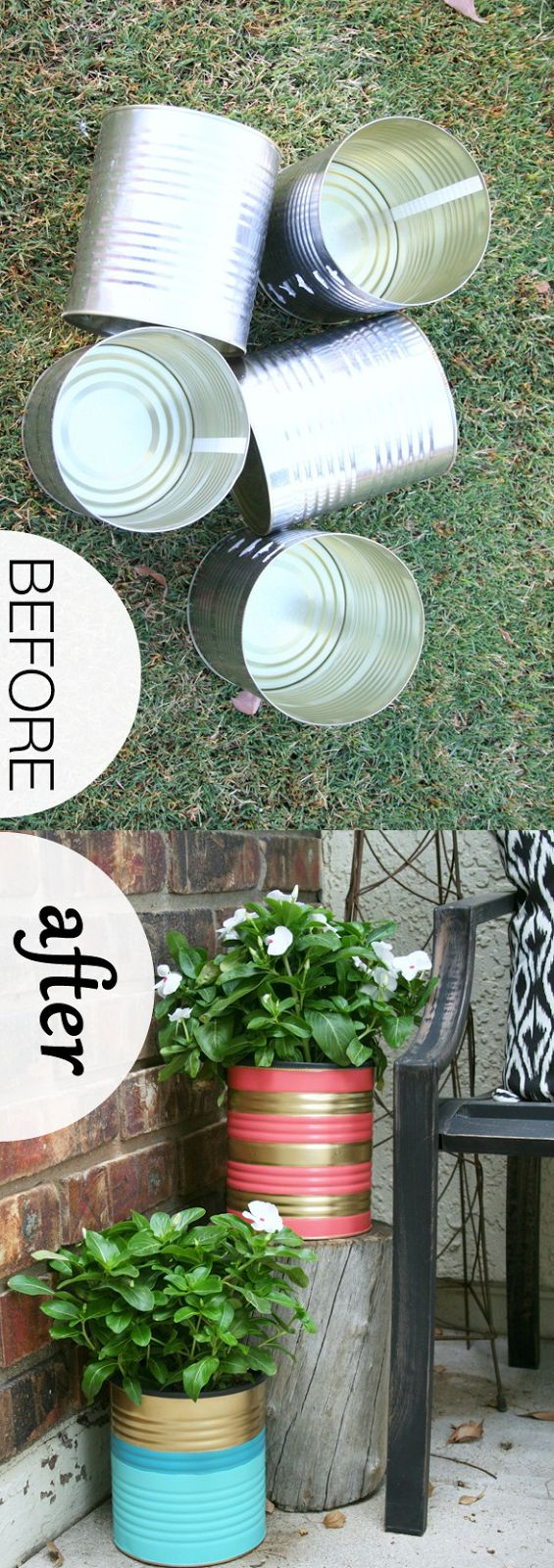 A Genius Way To Re-Use Empty Tin Cans