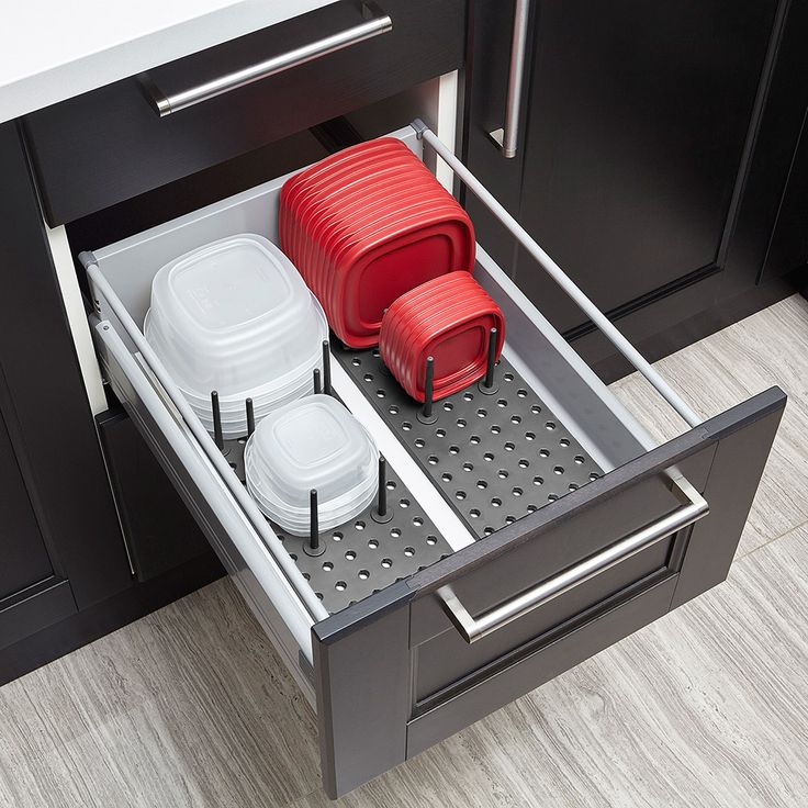 Органайзер для посуды и столовых приборов Peggy серый фото