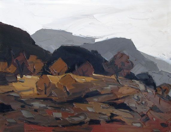 Sir Kyffin Williams - Autumn, Cwm Bychan, 1989