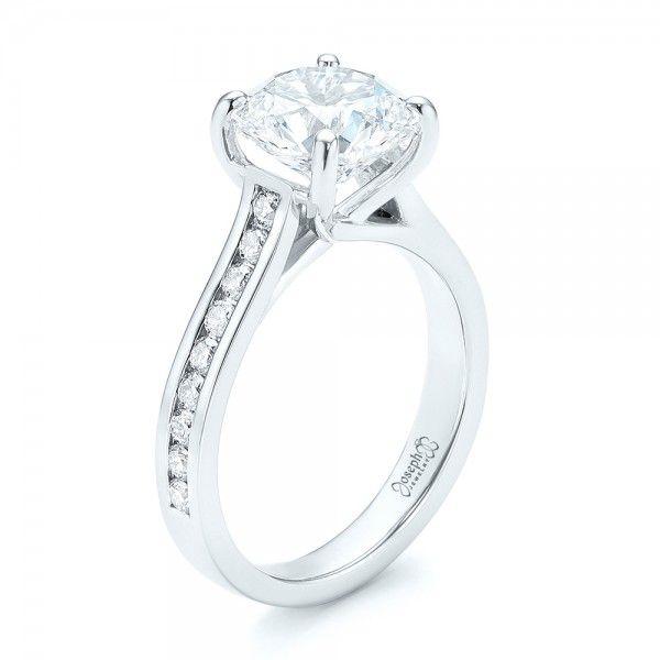 Lovely Custom Diamond Engagement Ring