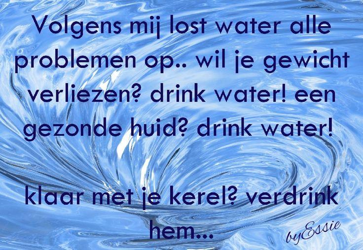 De oplossing is water..