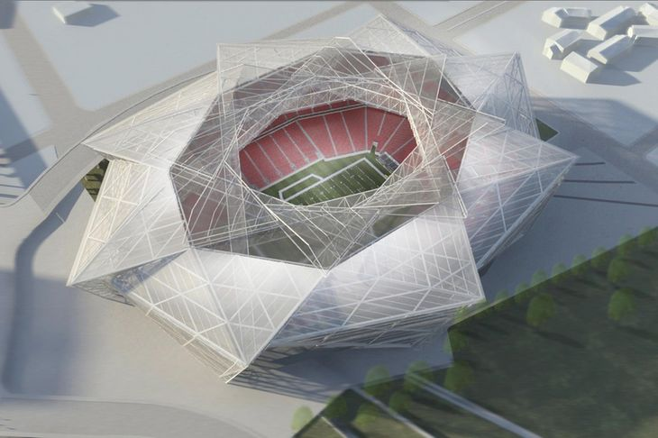 SB Nation presents the latest renderings for the new and boldly modernist Atlanta Falcons stadium.
