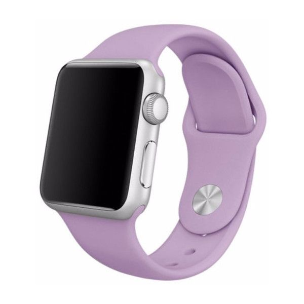 Replacement Silicone Band for Apple Watch ($8.99) ❤ liked on Polyvore featuring jewelry, watches, jewelry & watches, purple, purple watches, silicone wrist watch, unisex jewelry, silicone watches and apple watches