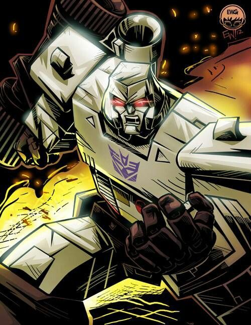 Evil leader of the Decepticons, cruel and merciless foe of the Autobots- Megatron