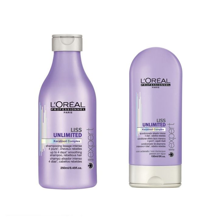 Loreal Professional Serie Expert Liss Unlimited Shampoo 250ml and Conditioner 150ml