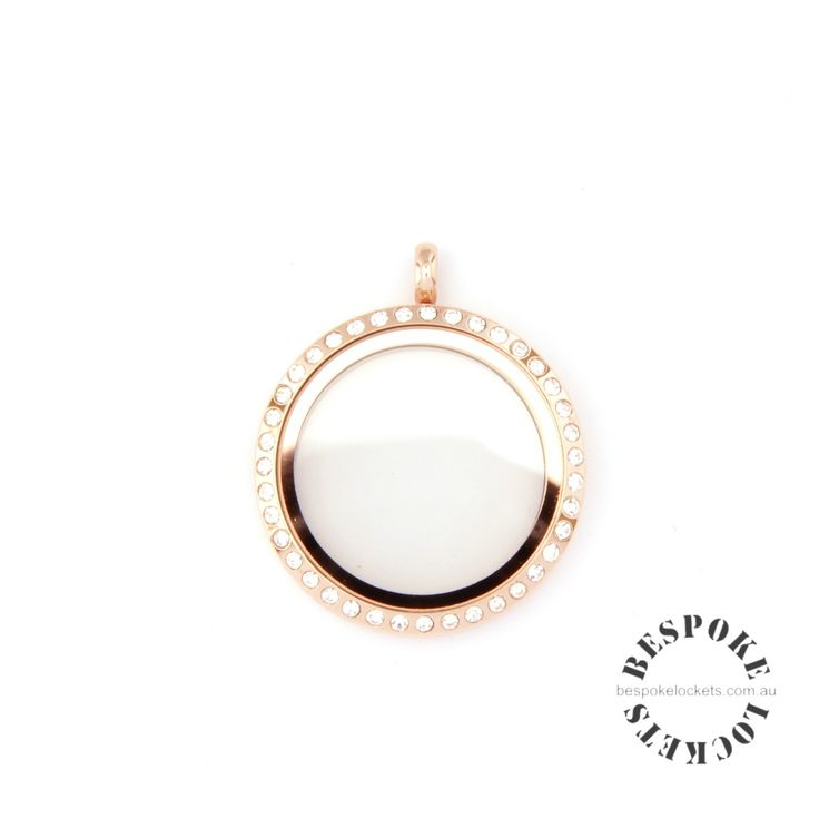 Rose Gold Coloured Round Stainless Steel Locket