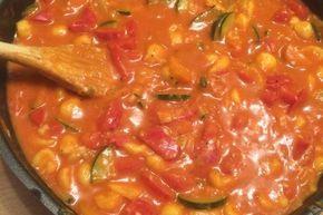 Gesunde Spätzle-Pfanne mit Paprika und Zucchini 3