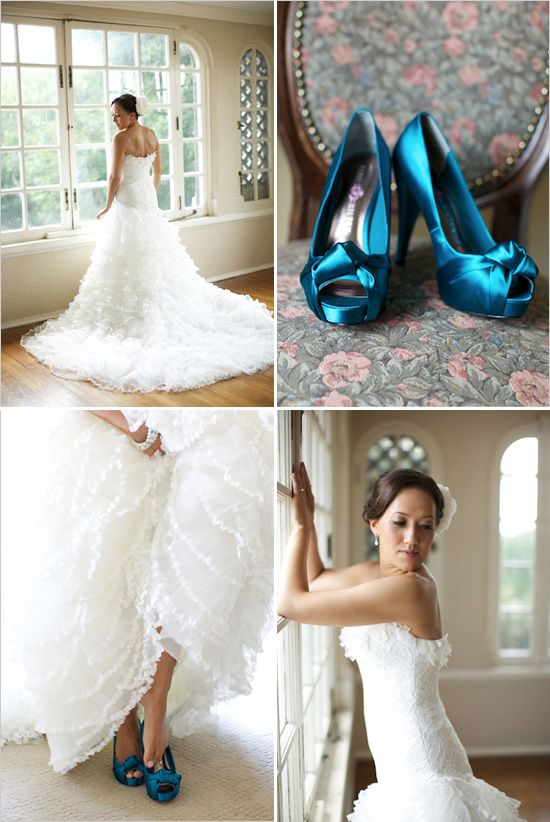 The blue shoes....my wedding color for the wedding party.