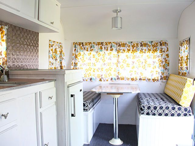 Before and After: A Vintage Camping Trailer Gets a Colorful Makeover  - CountryLiving.com