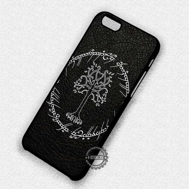 Ancient Script White Tree Gondor - iPhone 7 6 5 SE Cases & Covers