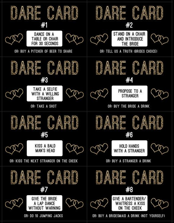 Bachelorette Dare Cards