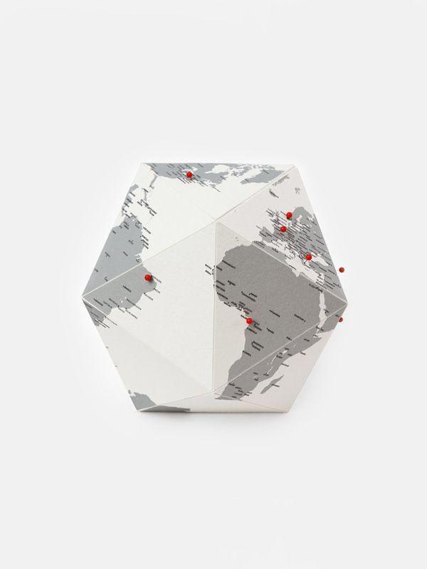 Palomar Here Personal Globe - paper globe | moonpicnic.com