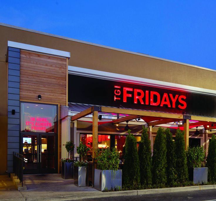 TGI Fridays has introduced a new logo that drops the apostrophe, and its new locations feature streamlined and more contemporary designs. Description from underconsideration.com. I searched for this on bing.com/images