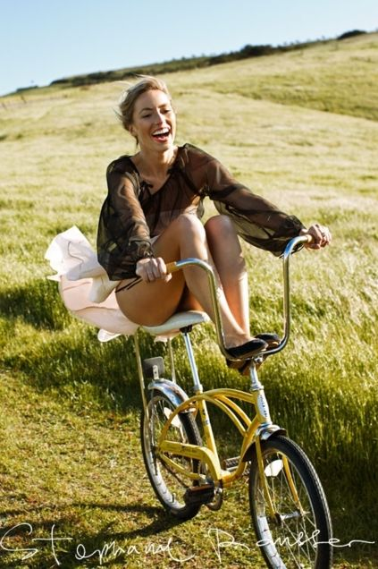 Taking a bike ride in the countryside