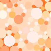 Orange Bubbles fabric--will be available to buy on spoonflower by about march 21