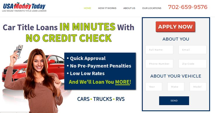 Get best opportunity to buy the vehicle with the help of easy and low rate title loans in Las Vegas, visit USA Money Today for quick approval title loans and here also safe from pre-payment penalties.