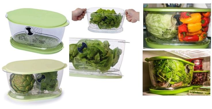 Lettuce Keeper Containers, Food Storage Keeps Fruit Or Vegetables Fresher Longer