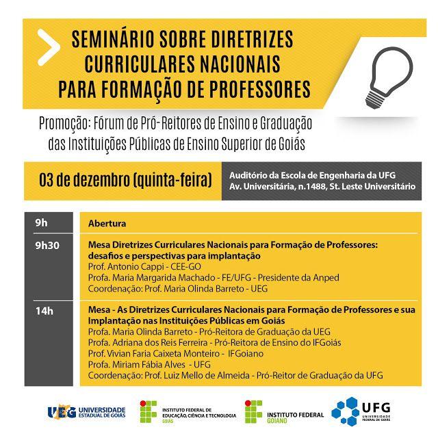 Blog do Sérgio Moura: Seminário: Diretrizes Curriculares Nacionais para ...