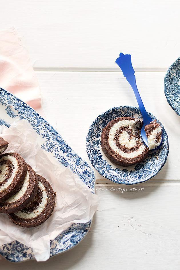 Rotolo senza cottura al cioccolato - Ricetta Rotolo senza cottura