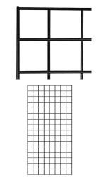 Black Wire Grid Wall Panel 2' x 4' at Store Supply Warehouse