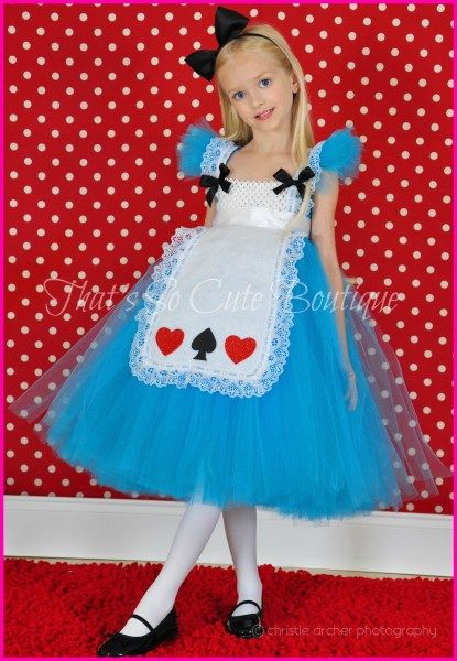 Alice in Wonderland Inspired Tutu Dress-alice, wonderland, blue, tutu dress, halloween, costume, queen of hearts