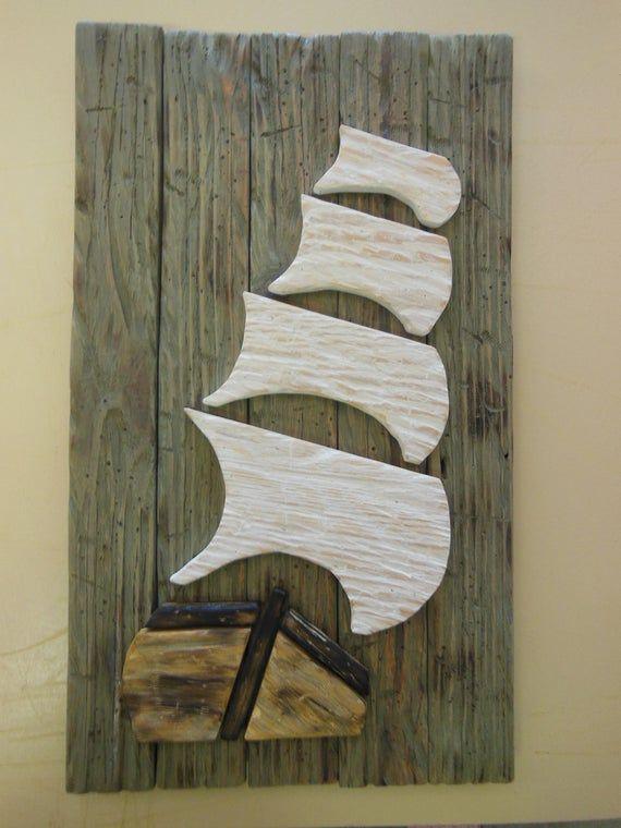 Pirata De Madera Barco Pirata Barco Afligido Barco Pirata De Madera Decoracion Nautica Arte Nautico Rustico Decoracion Desgastada Madera Sku Lsdps Scrap Wood Art How To Distress Wood Wood Art