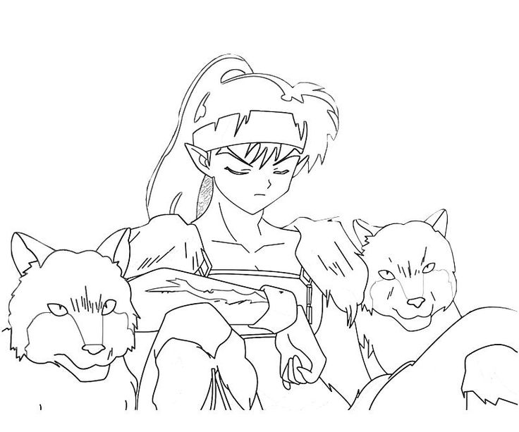 free coloring pages of human inuyasha  coloring pages