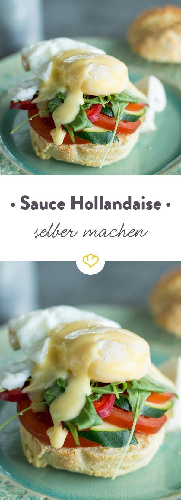 Sauce Hollandaise selber machen ist gar nicht so schwer: Mit einem Pürierstab ist der cremig-sämige Klassiker im Handumdrehen zubereitet. So funktioniert's