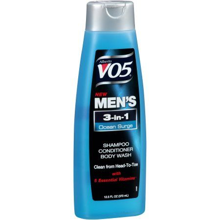 Alberto VO5 Men's 3-in-1 Ocean Surge Shampoo/Conditioner/Body Wash 12.5 fl. oz. Bottle