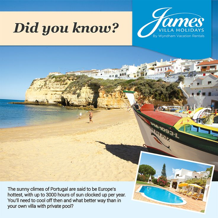 With the British weather so unpredictable and the onset of summer storms underway we have a sunny #fact about #Portugal that you may not know...