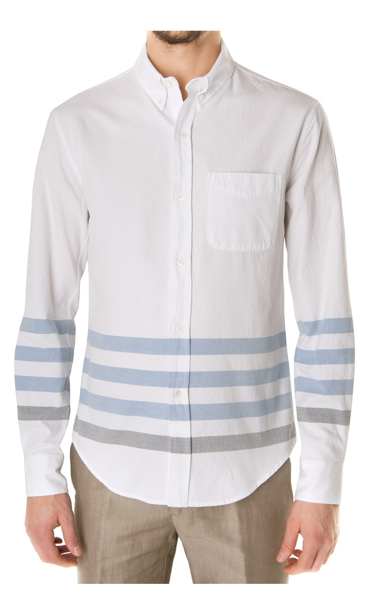 Band of Outsiders Stripe Bottom Shirt - #menswear