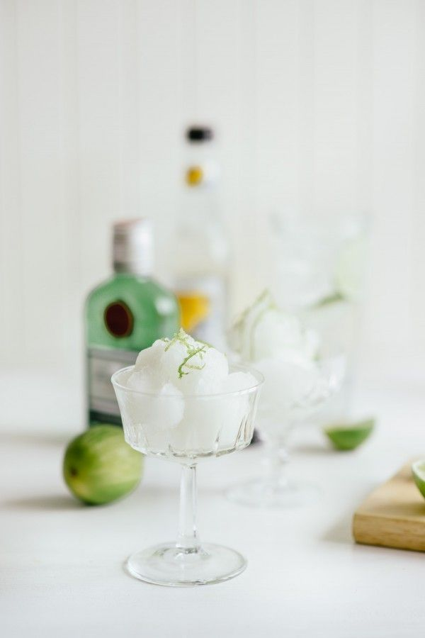 Gin and Tonic Sorbet - Now all I need is the ice-cream maker :/