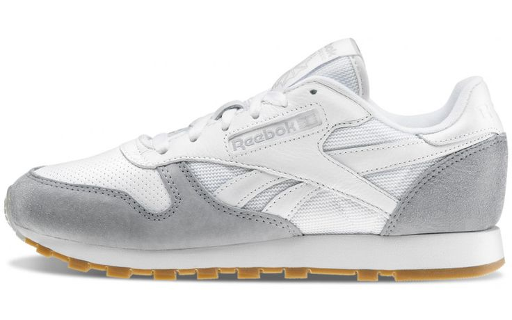Zapatillas Reebok W. Classic Leather Perfect Split blancas y grises - AW LAB