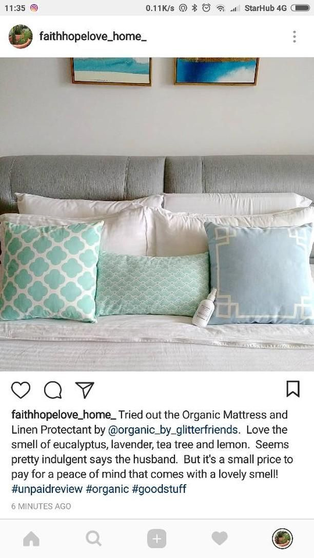 Our Mattress + Linen Protectant has a loving home in beautiful ❤️Singapore