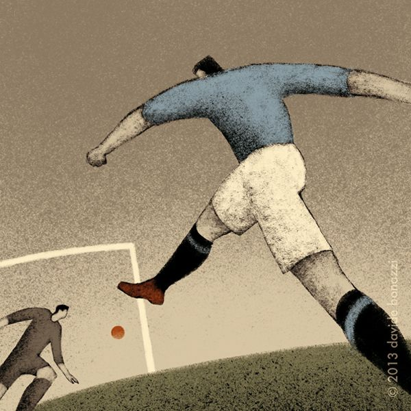 History of FIFA World Cup, a series of illustrations by Davide Bonazzi - ego-alterego.com