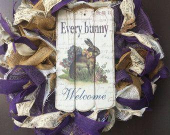 Guirnalda conejo guirnalda de Pascua cada por WreathsOfTheWest