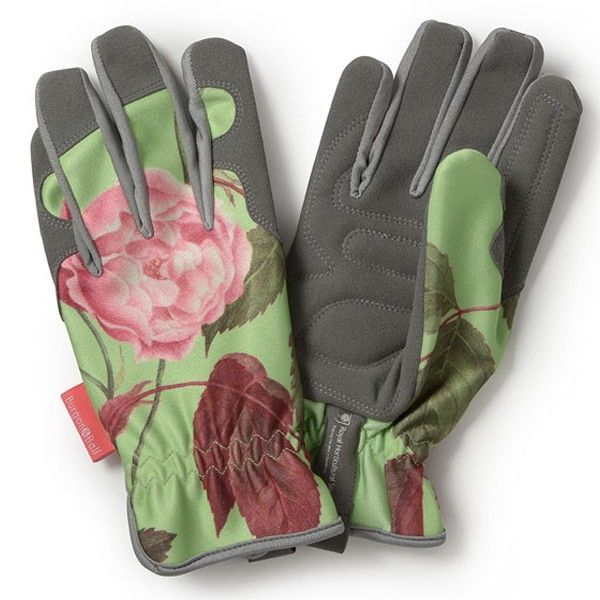 Rosa Chinensis Garden Gloves with a gorgeous rose print.  General purpose gardening gloves - one size.  We love!