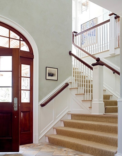 Half Wall Wood Paneling: 8 Best Images About Stair Railing On Pinterest