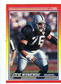 steve wisniewski football cards | Steve Wisniewski 1990 Score football Card