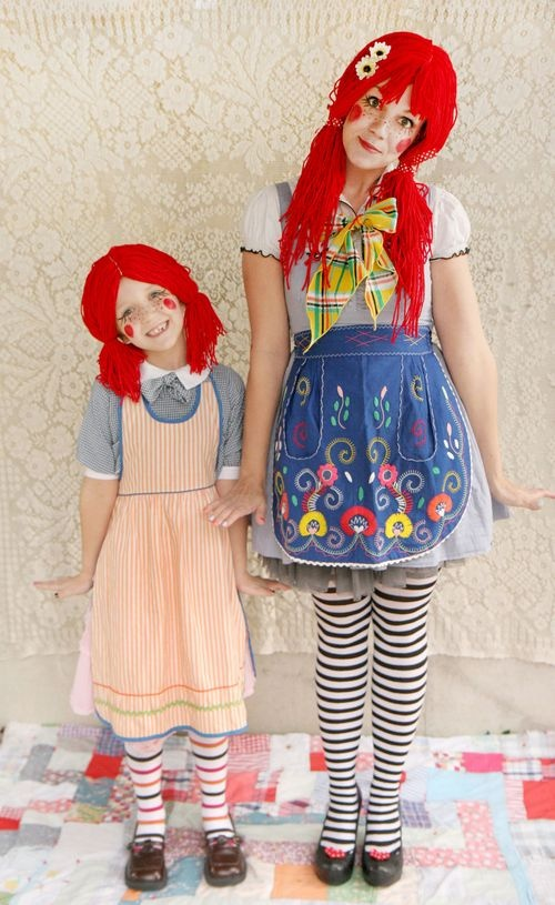 """Rag Doll costume (if you did it with circle lenses and the """"dolly eyes"""" makeup tutorial (which you can find on youtube) it would be better."""